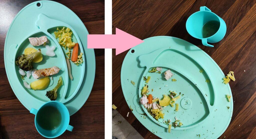 Posiłek niemowlaka i to co zostało