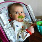 Dziecko BLW i koktajl zielony
