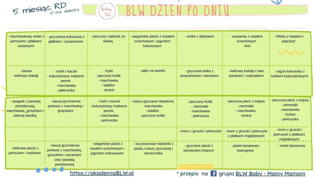 kalendarz blw miesiac 5 t3